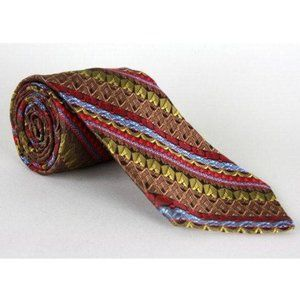 Vintage 60s/70s Dobbs NY Wide Brown/Red Necktie